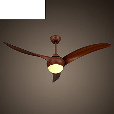 Ventilatore plafoniere moderne/ foglia retròLED Lampadario ventilatore-A