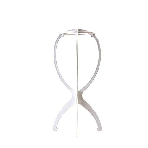 Chen Rui Plastique Porte Perruque Cheveux Chapeau Support Affichage Presentoir Stable (Blanc)