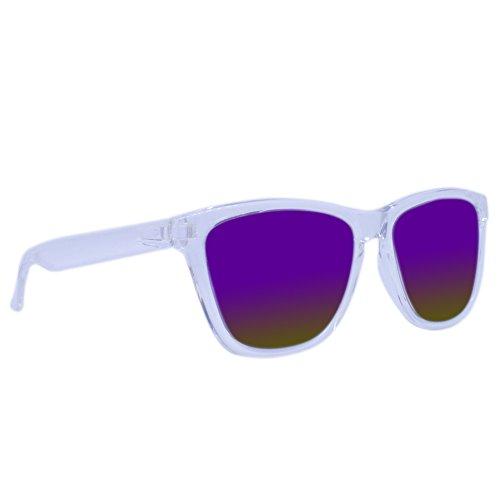 Fancy Eyewear - Transparent Weiss/Lila- Sonnenbrille - Polarisierte Gläser