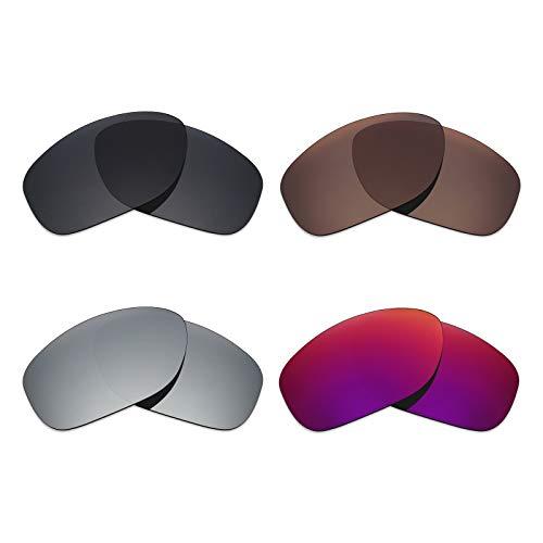 Mryok polarisierte Ersatzgläser für Oakley Pit Bull Sonnenbrille - Stealth Black/Bronze Brown/Silver Titanium/Midnight Sun