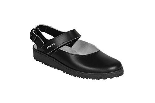 Sandales pour femme ballerina aWC de-pied et au niveau du talon Noir - Noir
