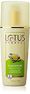 Lotus Herbals Lemonpure Turmeric and Lemon Cleansing Milk, 170ml