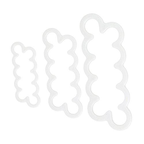 VWH 3 Stück Sugar Fondant Rose Plunger Druckform Mold Fondant Plunger