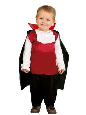 Kostüm Kletter - Guirca Kostüm Baby Dracula Vampir rot/weiß/schwarz, 0/12 Monate, 78009