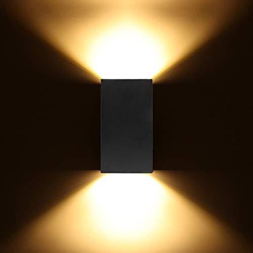 Sprsk Moderne einfache installation schwarz wandleuchte einfache doppelkopf 6wcob chip wandleuchte led kaltes warmes licht warmes zuhause beleuchtung wandleuchte low power grünes licht schlafzimmer wo