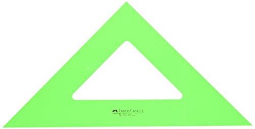 Faber-Castell 566 – Escuadra de 28 cm, color verde