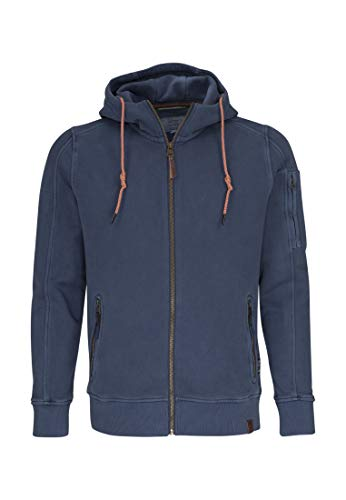 camel active Herren Hood-Jacket Sportjacke, Blau (Midnight Blue Core 15), Large - Active Sweat