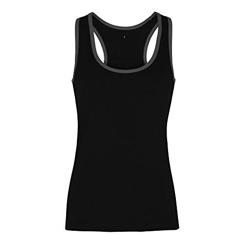 Tri Dri - Débardeur de fitness - Femme Rose/Noir