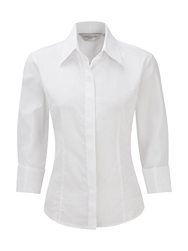 Business-Bluse aus Tencel® mit 3/4 Ärmeln White