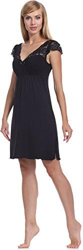 Merry Style Damen Nachthemd MS10-110 Schwarz