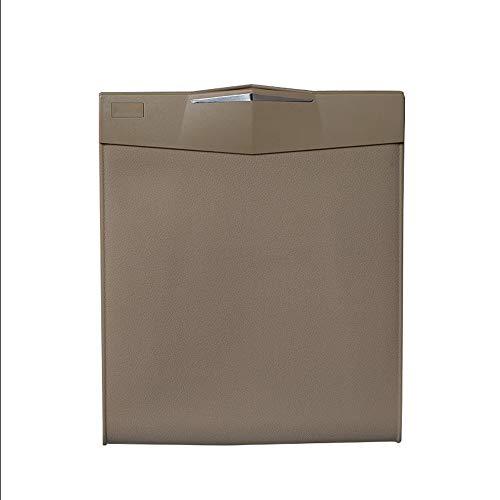 NewFay Auto Mülleimer, Leak Proof Auto Mülltasche Box/Mülleimer Hängende Sitz Kopfstütze oder Boden, Mini Wasserdichte Autositz Organizer Boot Bag mit Silikagel,Brown Brown Böden