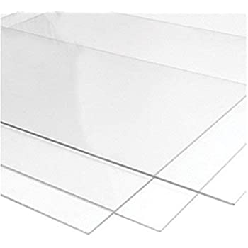 3mm Perspex Clear Anti Reflective Glare Acrylic Sheet 19 Sizes to Choose 200mm x 200mm