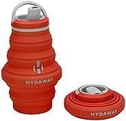 HYDAWAY - Opvouwbare waterfles, 500 ml flip top deksel | Ultra verpakbaar, reisvriendelijk, voedsel siliconen