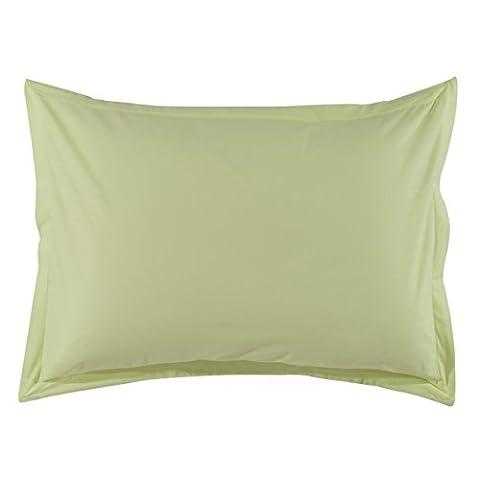 Essix - Taie d'oreiller Star Line Coton Vert anis 50 x 70 cm