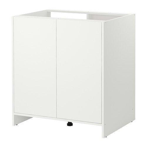 Ikea Pensile da cucina per lavastoviglie, con ante, colore: bianco