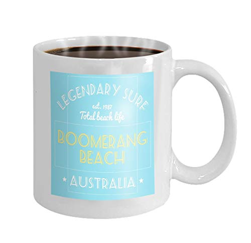 11 oz Coffee Mug print design surfing typographyhirt project legendary surf boomerang beach australia australia surfing Novelty Ceramic Gifts Tea Cup - Boomerang Glas