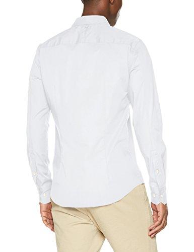 Tommy Jeans Herren Freizeithemd Tjm Original Stretch Shirt Weiß (Classic White 100)