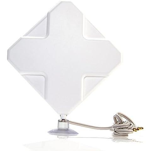 BlueBeach® 4G antena (35dbi) para Huawei ZTE dongle USB y el módem wifi móvil con conector TS9 (Huawei E5776 E5786 E5372 E5332 E3276 E589 E397 E398 E392 ZTE MF80 MF821D 633BP 645 668)