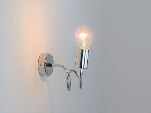 Lampada parete applique flessibile moderno illuminazione interni