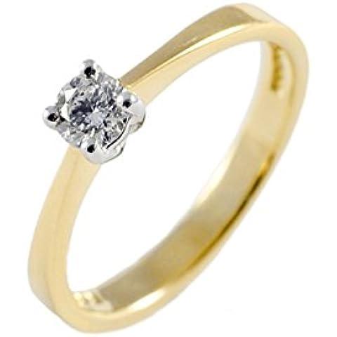 charmbeads 9ct Oro Amarillo 0,33ct Diamond Solitaire Compromiso Aniversario de boda anillo tamaños