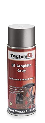 TechniQ - Vernice per cerchi in lega metallica, 400 ml, colore: grigio grafite GT