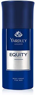 Yardley Equity Body Spray, fresh inviting fragrance, all-day long, 150ml