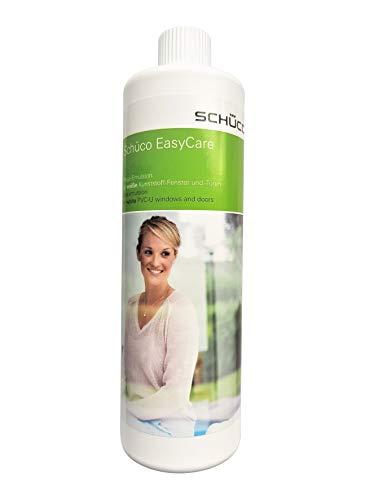 SCHÜCO- Easycare, hochwertiger Reiniger für Fensterrahmen Kunststoff vom Markenhersteller, Reinigungsemulsion für weiße Kunststofffenster, Türen und Rolladen