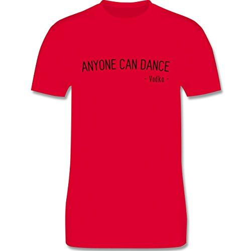 Statement Shirts - Anyone can dance - Vodka - - Herren Premium T-Shirt Rot