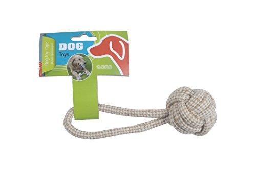 Hundespielzeug Seil mit Kordelball 17cm Baumwolle Spielzeug Hund Spielzeugseil Wurfball