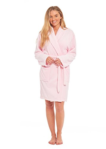 - 31pNJGtZ9 L - Ladies Dressing Gown Soft Cosy Gowns For Women Honeycomb Pattern Kimono Fluffy Bathrobe Womens Lounge wear