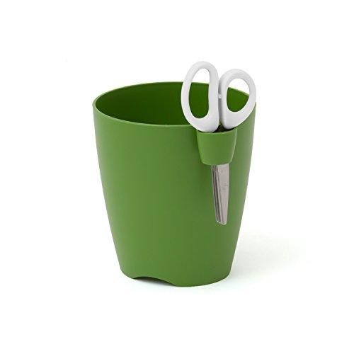 Pot a herbes en vert LIMES UNO 13 cm avec ciseaux inclus