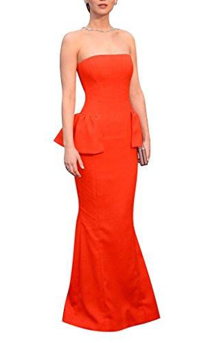 GEORGE BRIDE Oscar Awards orange Meerjungfrau strapless Roter Teppich Promi-Kleider, Groesse 48, orange (Strapless Meerjungfrau Kleid)
