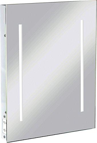 ML20 - 12 W LED Badezimmer IP44 Pressstahl Spiegel aus Glas mit IP21 DUAL Rasiersteckdose & LIGHT