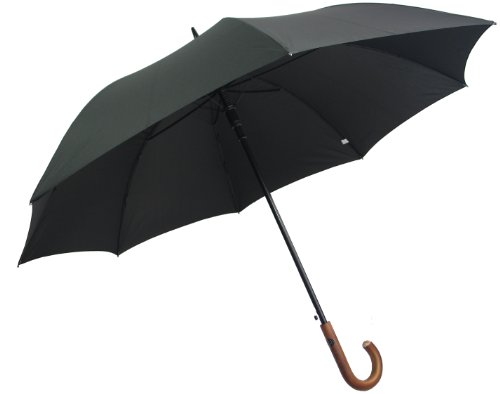 pierre-cardin-negro-paraguas-de-diseno-color-marron-mango-de-madera-auto-abierto
