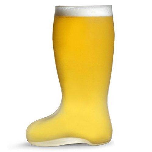 Verre dépoli 1 pinte de bière allemande Bierstiefel pour bottes Style verre en verre dépoli