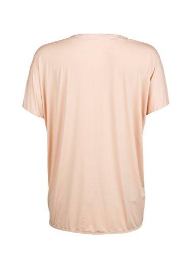 Kim Kara Damen Shirt Oberteil Sexy V-Auschnitt Steine Nude ...