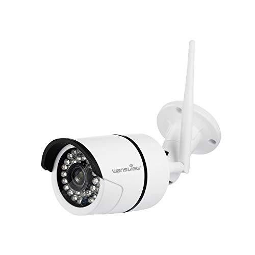 Wansview Caméra Exterieur,Caméra de Surveillance Wi-FI W3 (Blanche)