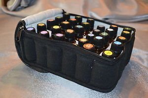Lmeison 30-Bottle Essential Oil Carrying Case - Perfect Essential Oils Bag for Traveling - Sturdy Double Zipper - Contain 5ml,10ml,15ml Bottles - Black by Lmeison