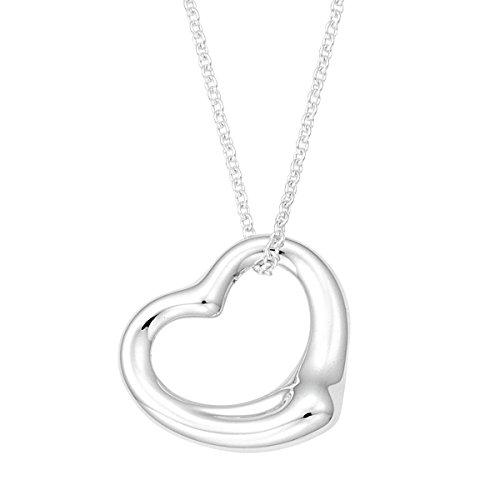 [] Tiffany Tiffany in argento Sterling Elsa Peretti ciondolo a cuore aperto...
