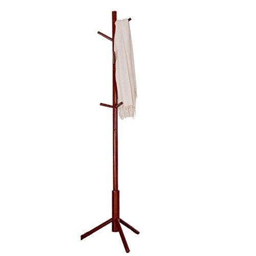 MEI XU- Garderobenstander Kleidung hängenden Bambus Kastanien Dressing Girder Brust Tuch Crown Room Hasty Handschuh Rahmengröße: 175x43x4cm (Farbe : Burgundy) -