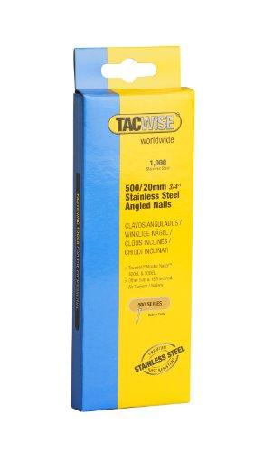 Tacwise Edelstahlnägel Gewinkelt 500/20 mm, 1000 Stück, 1131