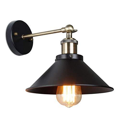 Vintage Loft Bronze E27 Aluminium Lampenfassung Wandlampe Überzogenes Eisen Retro Industrial Home Licht Studie Lampe Farbe: Schwarz (Bronze-1 Pack) -