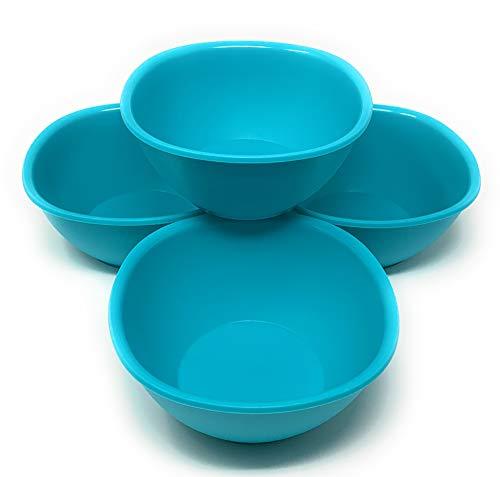TUPPERWARE Legacy Pinch Müsli oder Suppe Schalen Set von 4Pastell Mint Blau Grün Pinch Bowl Set