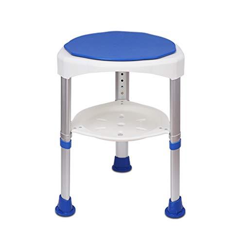 Qing MEI 360 Grad drehbare Aluminium duschhocker Bad hocker höhenverstellbar Bad Stuhl Alter Mann Dusche Stuhl A++ (Farbe : B)