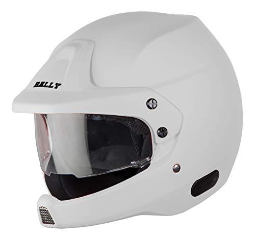 Steelbird SB-51 7Wings Rally Open Face Helmet (Medium 580 MM, Matt White)