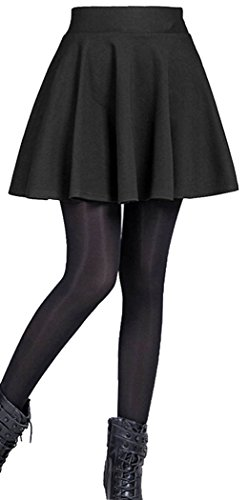 Emma & Giovanni - Basic Mini Rock- Damen (XL, Schwarz) -