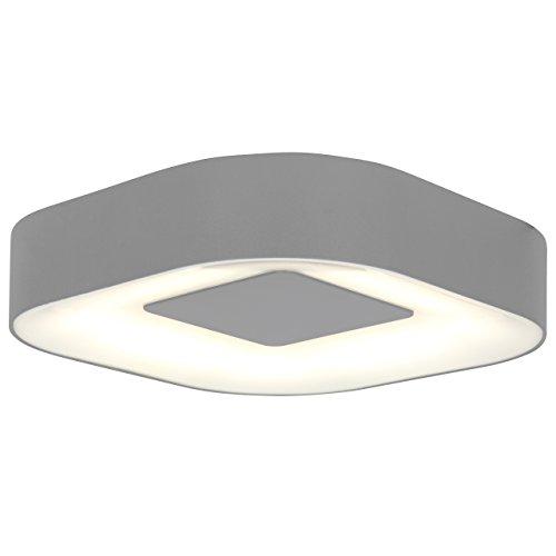 Designer-wand-mount (Eco-Light Außenleuchte für Wand oder Decke Ublo IP54, quadratisch mit runden Ecken, 16,3 x 16,3 cm, silber 3501 S SI, A+ LED Technik mit 6.3 Watt Lichtleistung.)
