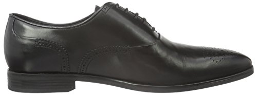 Geox U New Life A, Brogues Homme Schwarz (BLACKC9999)