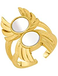 Voylla Ring for Women (Golden)(8907617650135)