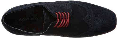 Base London Shore, Chaussures de ville homme Bleu (Suede Navy)